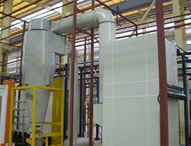 大旋风+脉冲滤芯粉末回收房